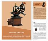 Free Coffee Grinding Machine Word Template Background, FreeTemplatesTheme