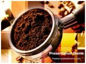 Free Coffee Powder PowerPoint Template Background, FreeTemplatesTheme