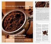 Free Coffee Powder Word Template Background, FreeTemplatesTheme