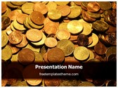 Free Coins Background PowerPoint Template Background, FreeTemplatesTheme