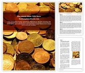 Free Coins Background Word Template Background, FreeTemplatesTheme