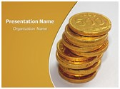 Free Coins PowerPoint Template Background, FreeTemplatesTheme