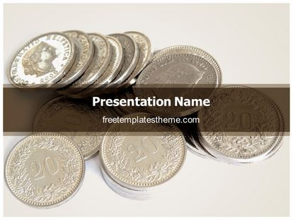 free coins money powerpoint template