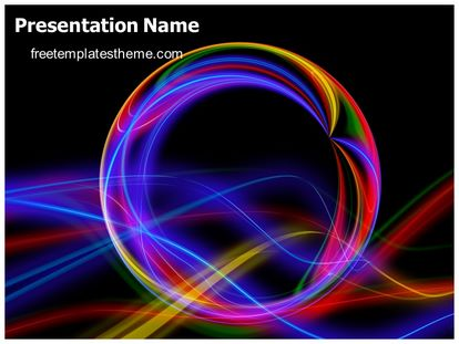 Free Color Rays Abstract Powerpoint Template  FreetemplatesthemeCom