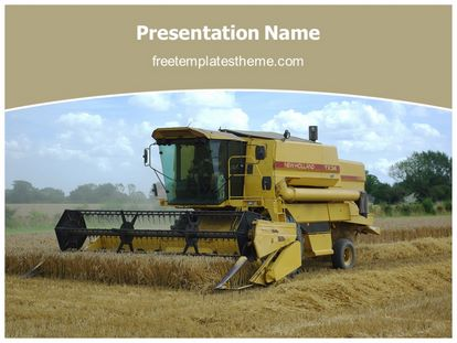 Free combine harvester powerpoint template freetemplatestheme slide1g toneelgroepblik Images