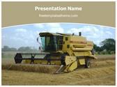 Free Combine Harvester PowerPoint Template Background, FreeTemplatesTheme