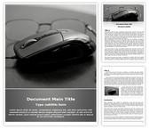 Free Computer Glasses Word Template Background, FreeTemplatesTheme
