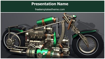 Concept Speed Motorcycle Free Powerpoint Template Widescreen, FreeTemplatesTheme