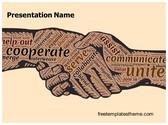 Free Corporate Handshake PowerPoint Template Background, FreeTemplatesTheme