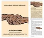 Free Corporate Handshake Word Template Background, FreeTemplatesTheme