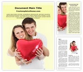 Free Couple In Love Word Template Background, FreeTemplatesTheme