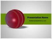 Free Cricket Ball PowerPoint Template Background, FreeTemplatesTheme