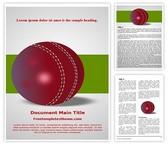 Free Cricket Ball Word Template Background, FreeTemplatesTheme