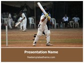 Free Cricket Batsman PowerPoint Template Background, FreeTemplatesTheme