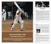 Free Cricket Batsman Word Template Background, FreeTemplatesTheme