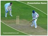 Free Cricket Wicket Keeper PowerPoint Template Background, FreeTemplatesTheme