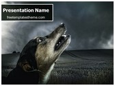 Free Crying Dog PowerPoint Template Background, FreeTemplatesTheme