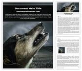 Free Crying Dog Word Template Background, FreeTemplatesTheme