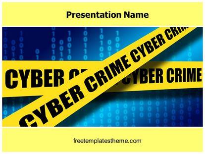 Free Cyber Crime Cell Powerpoint Template Freetemplatestheme