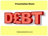 Free Debt PowerPoint Template Background, FreeTemplatesTheme