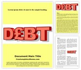 Free Debt Word Template Background, FreeTemplatesTheme