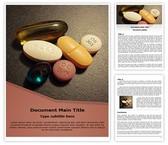 Free Deficiency Pills Word Template Background, FreeTemplatesTheme