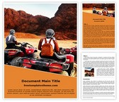 Free Desert Bike Traveller Word Template Background, FreeTemplatesTheme