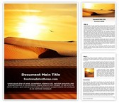 Free Desert Sunset Word Template Background, FreeTemplatesTheme