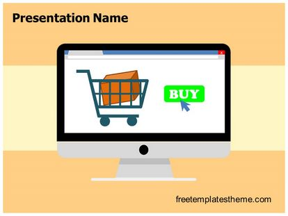 Free desktop online shopping powerpoint template slide1g toneelgroepblik Choice Image