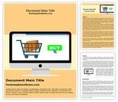 Free Desktop Online Shopping Word Template Background, FreeTemplatesTheme