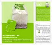 Free Dip Tea Bags Word Template Background, FreeTemplatesTheme