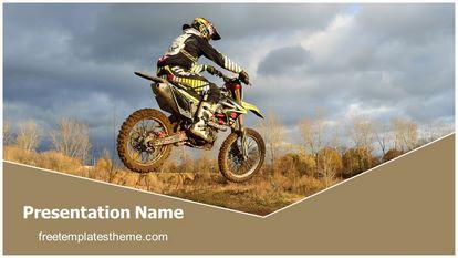 Dirt Bike Sports Free PPT Background Template Widescreen, FreeTemplatesTheme