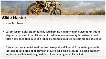 Dirt Bike Sports Free PPT Background Template Widescreen, PPT Slide2