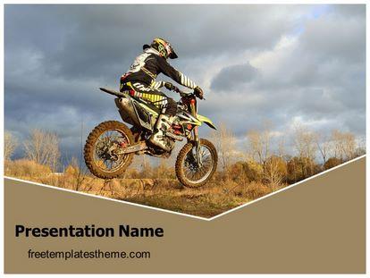 Dirt Bike Sports Free PPT Background Template, freetemplatestheme.com