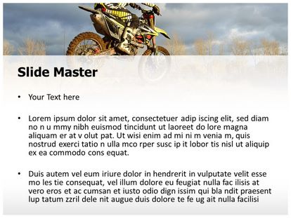 Dirt Bike Sports Free PPT Background Template, PPT Slide2