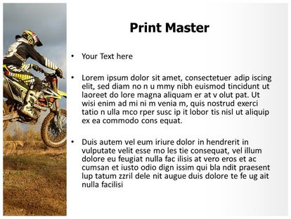 Dirt Bike Sports Free PPT Background Template, PPT Slide3