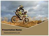 Free Dirt Bike Sports PowerPoint Template Background, FreeTemplatesTheme