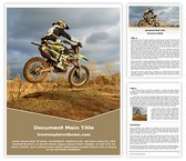 Free Dirt Bike Sports Word Template Background, FreeTemplatesTheme