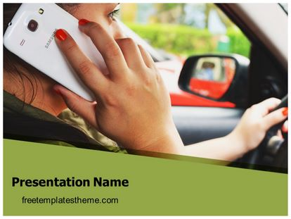 Distracted Driving Free Powerpoint Template Design, freetemplatestheme.com