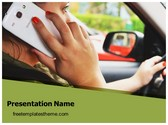 Free Distracted Driving PowerPoint Template Background, FreeTemplatesTheme