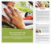 Free Distracted Driving Word Template Background, FreeTemplatesTheme