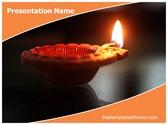 Free Diwali Festival Lamp PowerPoint Template Background, FreeTemplatesTheme