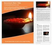 Free Diwali Festival Lamp Word Template Background, FreeTemplatesTheme