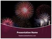 Free Diwali Fireworks PowerPoint Template Background, FreeTemplatesTheme
