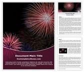 Free Diwali Fireworks Word Template Background, FreeTemplatesTheme