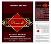 Free Diwali Word Template Background, FreeTemplatesTheme