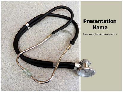 Free doctor stethoscope powerpoint template freetemplatestheme slide1g toneelgroepblik Gallery