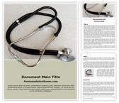 Free Doctor Stethoscope Word Template Background, FreeTemplatesTheme