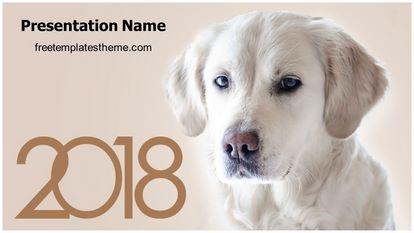Dog Year Free PPT Background Template Widescreen, FreeTemplatesTheme
