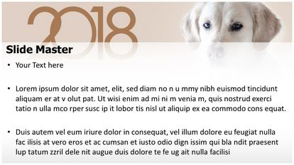 Dog Year Free PPT Background Template Widescreen, PPT Slide2